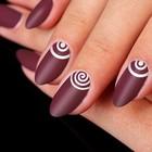 Трафареты для ногтей «Спирали, круги»