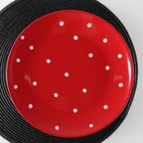 """Dining plate 27 cm """"Red peas"""""""