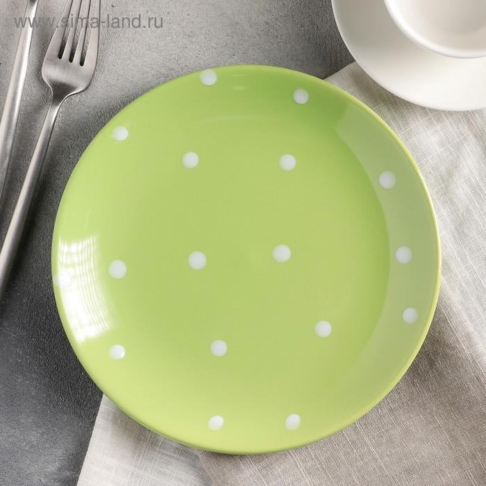 "Dessert plate 19cm ""Green peas"""