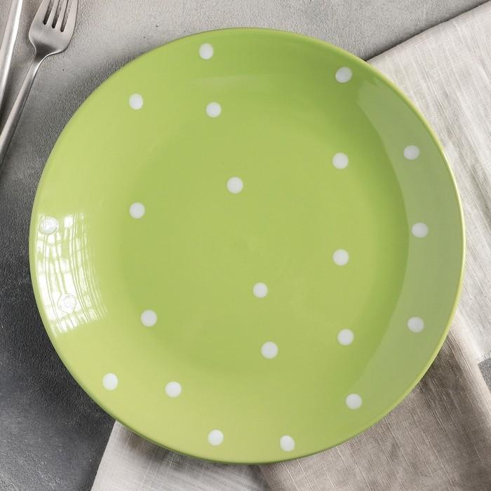 Тарелка обеденная «Зелёный горох», 27 см, цвет зелёный