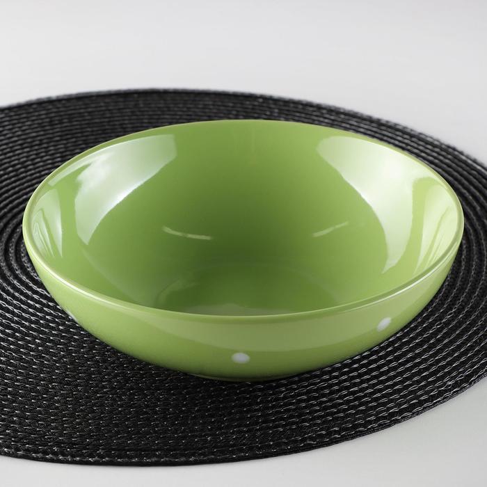 "Plate 18.7 cm soup ""Green pea"", 800 ml"