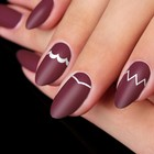 """Stencils for nails """"zigzags, wave"""", 4"""