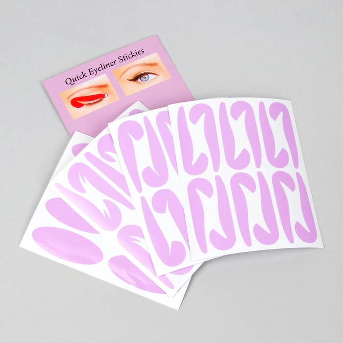 Набор трафаретов для макияжа глаз, 4 вида по 6 шт
