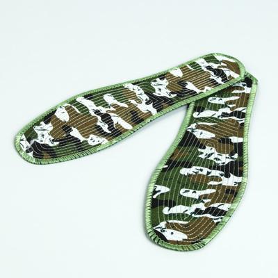 Стельки для обуви, прошитые, окантовка, пара, 40 р-р, цвет зелёный