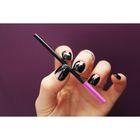 Щёточка для ресниц силиконовая, цвет фиолетовый