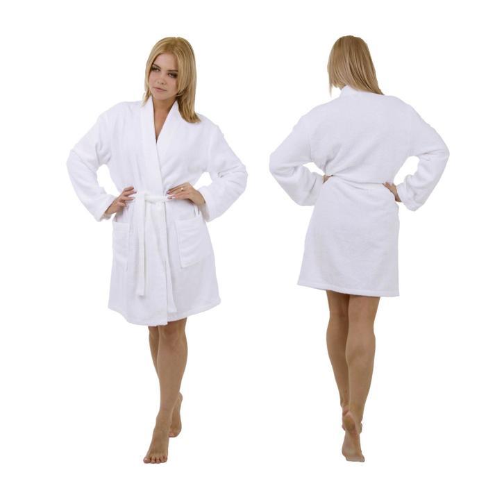 """Махровый халат """"Этель"""" женский, размер 46, цвет белый"""