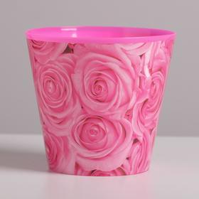 Кашпо «Розы», 0,8 л, 11 х 12 см - фото 1694563