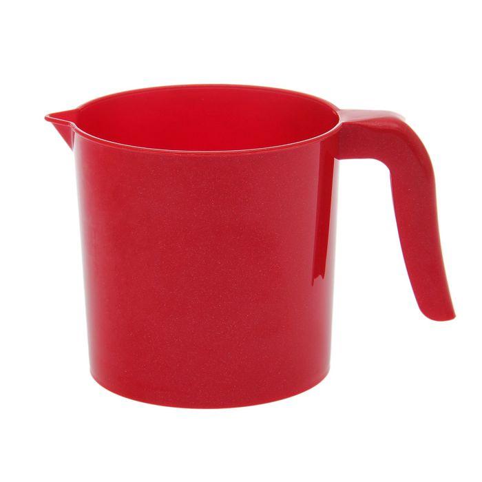 """Ковш 1 л """"Рубин"""", цвет красный"""
