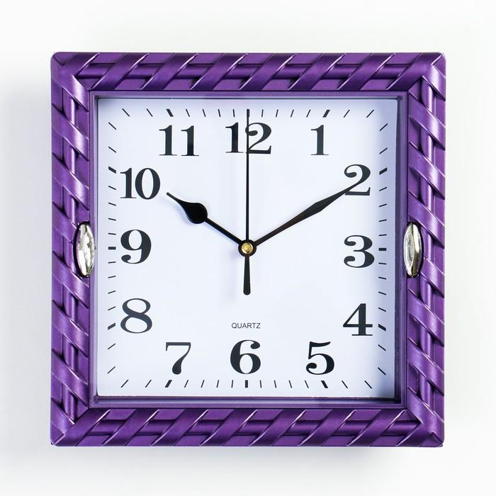 """Часы настенные, серия: Интерьер, """"Земляничка"""", рама микс,  22х22 см, дискретный ход,"""