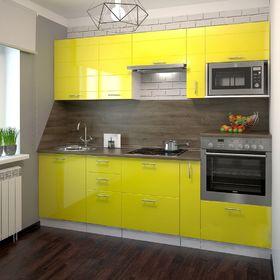 Кухонный гарнитур, 2400 мм, цвет Лимон