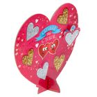 """Heart gift with the little Windows """"Today, we are with you"""" 18 x 16 cm"""