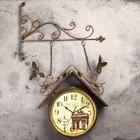 """Часы настенные двойные, серия: Садовые, """"Скворечник"""", плавный ход, 42х77 см - фото 1672774"""
