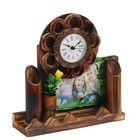 Часы настольные серия Бамбук Цветок+фоторамка (фото 10х15) 22*23см