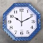 """Часы настенные многогранник """"Переплетение"""", 22 × 22 см, белый циферблат, рама-плетёнка микс"""