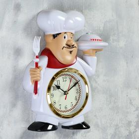 """Часы настенные, серия: Кухня, """"Кушать подано"""" 22х28 см, плавный ход"""