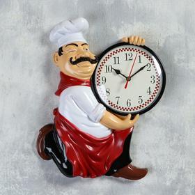 """Часы настенные, серия: Кухня, """"Повар усач"""", 24х30 см"""