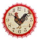 """Часы настенные, серия: Животный мир, """"Бутылочная крышка"""", d=33 см"""