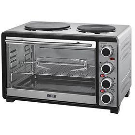 Мини-печь Mystery MOT-3333, 30 литров, духовка + 2 конфорки