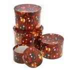 """Набор круглых коробок 4в1 """"Красные шары"""" 23 х 23 х 16 - 13,5 х 13,5 х 8 см"""