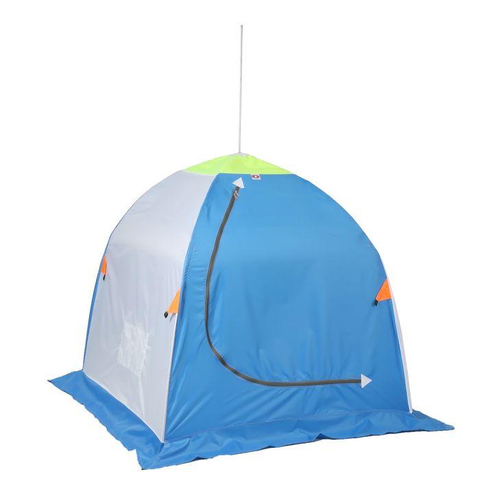 Палатка «Медведь» 1 местная, 4 луча, оксфорд 210, брезент