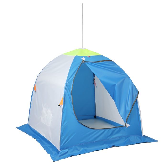 Палатка «Медведь» 1 местная, 4 луча, оксфорд 210, брезент - фото 36174