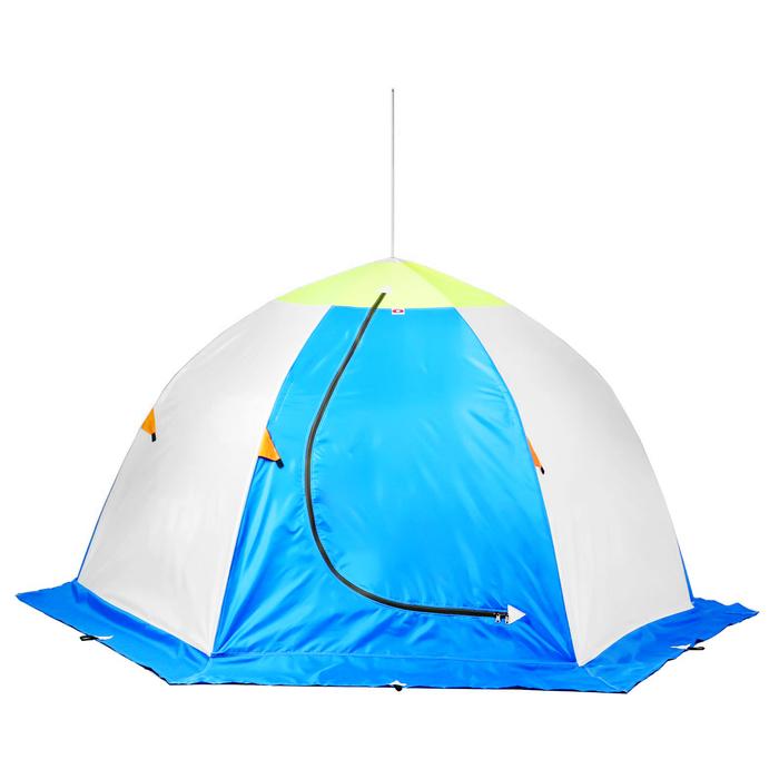 Палатка «Медведь» 3 местная, 6 лучей, трёхслойная термостёжка