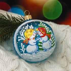 """Новогодний шар """"Снеговички"""" 7,5 см"""
