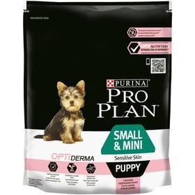 Сухой корм PRO PLAN для щенков мелких пород, чувствительная кожа, лосось, 700 г