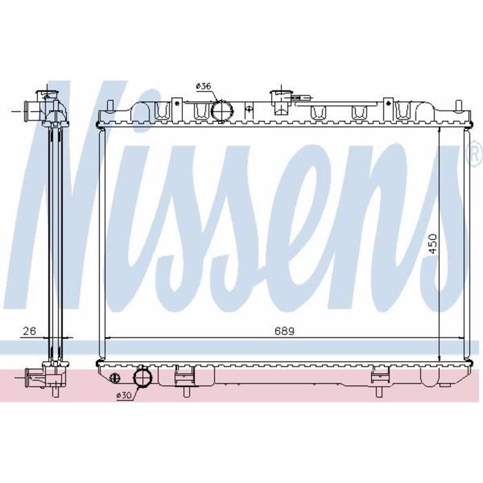 Радиатор системы охлаждения NISSENS 68705A