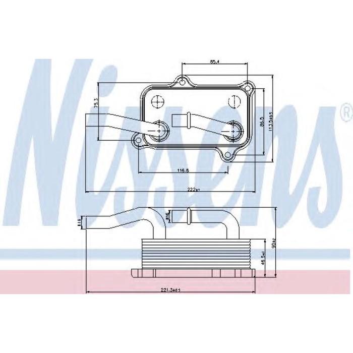 Радиатор масляный NISSENS 90599