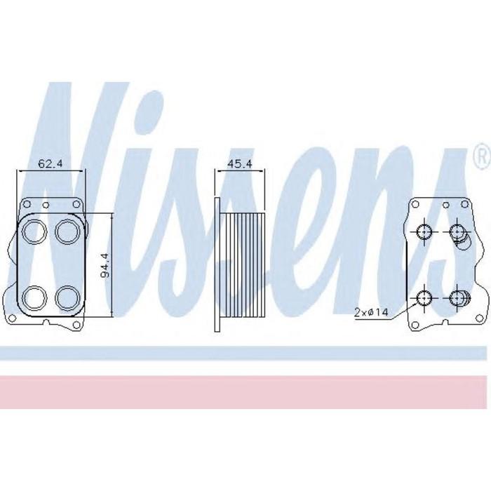 Радиатор масляный NISSENS 90740