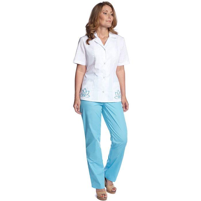 Брюки медицинские «Лотос. Анна», размер 48, рост 158-164 см, цвет голубой
