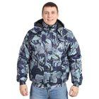 Куртка утеплённая «Альфа-2», размер 48-50, рост 170-176 см, цвет синий камуфляжный