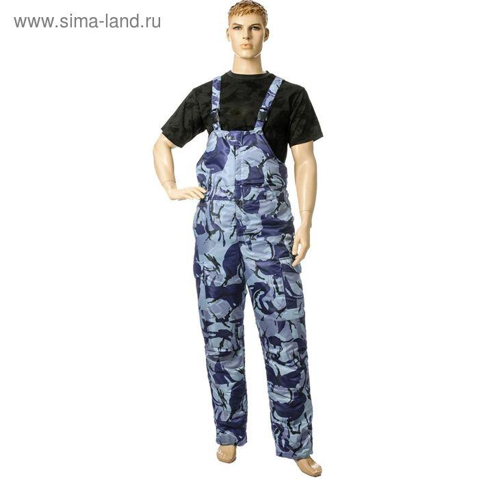 Полукомбинезон утеплённый «Турист», размер 44-46, рост 170-176 см, цвет синий камуфляжный