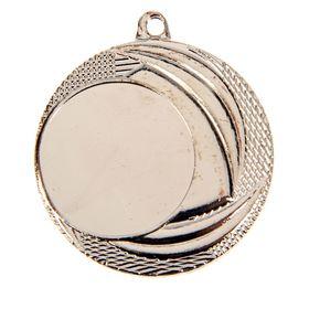 Медаль под нанесение, серебро, d=4 см