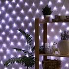 """Гирлянда """"Сеть"""", 1.6 х 1.6 м, LED-144-220V, 8 режимов, нить прозрачная, свечение белое"""