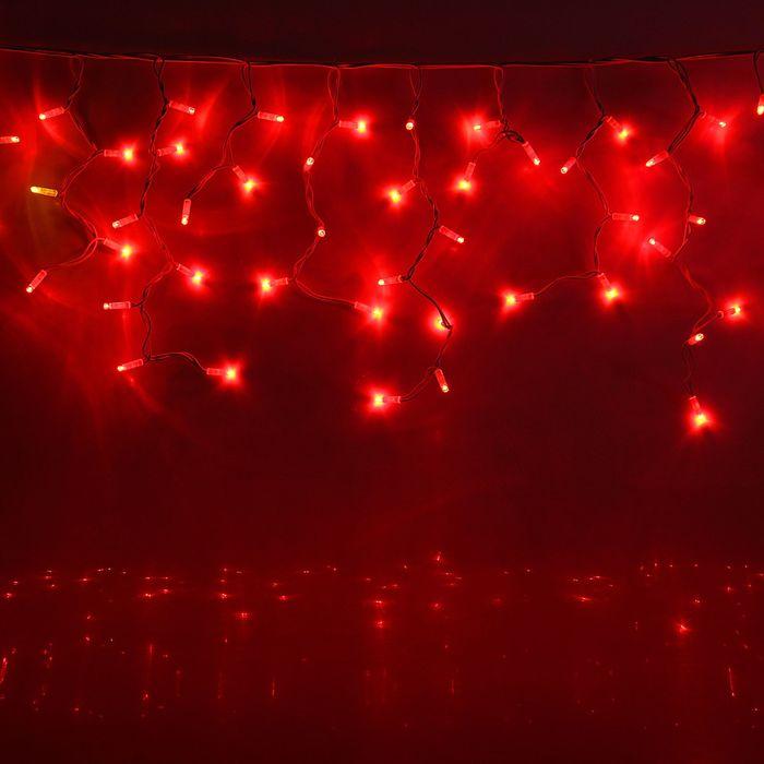 "Гирлянда ""Бахрома"" улич. УМС, Ш:4 м, В:0,6 м, Н.Б. ""Каучук"" 2W LED-180-220V,без контр. КРАСНЫЙ 15859"