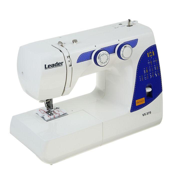 Швейная машина электромеханическая Leader VS 375, челнок вертикальный, 22 операций, пластик