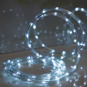 LED шнур 10 мм, круглый, 5 м, чейзинг, 2W-LED/м-24-220V, с контр. 8р, БЕЛЫЙ