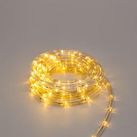 LED шнур 10 мм, круглый, 5 м, чейзинг, 2W-LED/м-24-220V, с контр. 8р, ТЕПЛЫЙ БЕЛЫЙ Ош