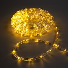 LED шнур 10 мм, круглый, 10 м, чейзинг, 2W-LED/м-24-220V, с контр. 8р, Т/БЕЛЫЙ