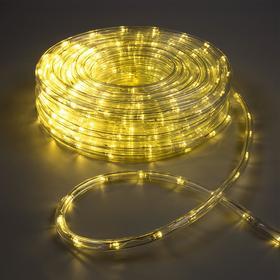 LED шнур 10 мм, круглый, 20 м, чейзинг, 2W-LED/м-24-220V, с контр. 8р, ТЕПЛЫЙ БЕЛЫЙ