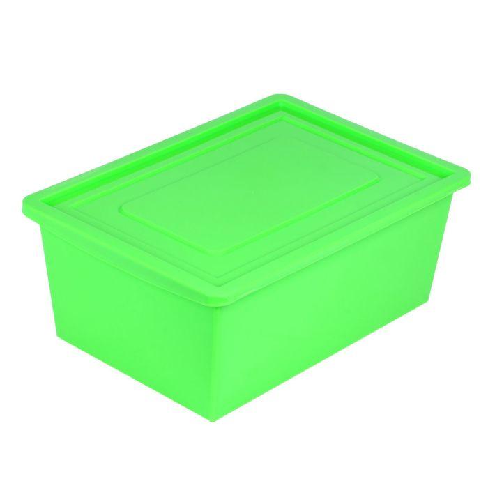 ПОДАРОК Ящик универсальный для хранения с крышкой, цвет салатовый