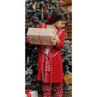 Халат для девочки, рост 92 см, цвет красный