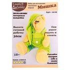 """Набор для создания текстильной игрушки """"Мишка в зелёном комбинезоне"""", 30 см"""