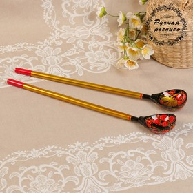 """A set of spoons for pickles """"Khokhloma"""", Suite"""