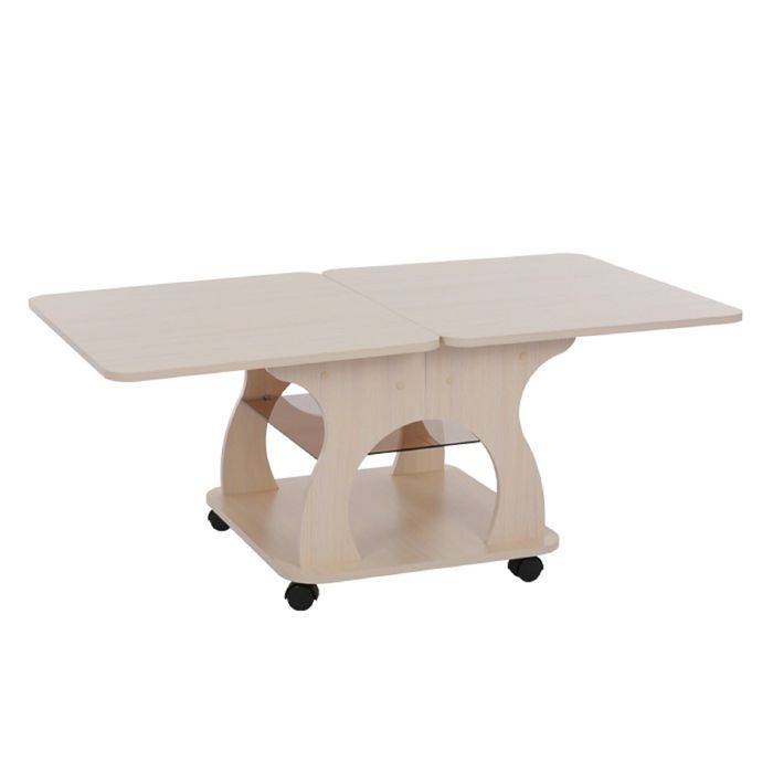 Журнальный стол Купер 600/1200х700х516 Дуб млечный - фото 1673249