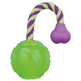 Мяч на верёвке Trixie, пластик, плавающий, ø 5,5 см/23 см