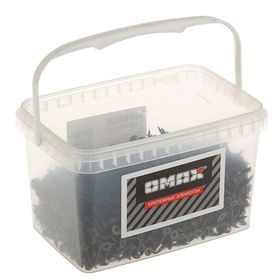 Саморезы по металлу OMAX, 3.5х19 мм, потайной, оксид, частый шаг, 2 кг