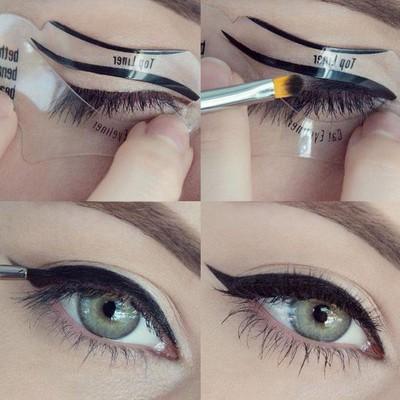 Набор трафаретов для макияжа глаз, 6 шт
